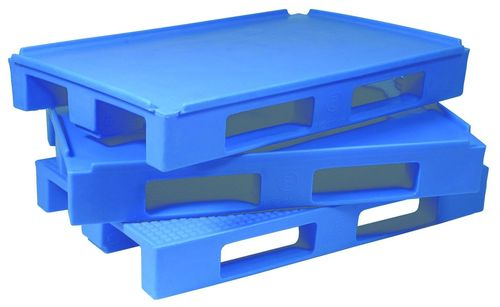 Blue HDPE / Plastic Warehouse Pallets