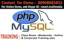 PHP and My SQL Training at Hyderabad Online Also