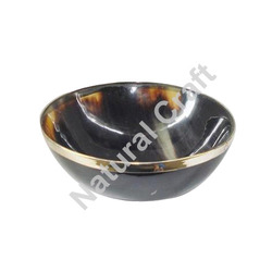 Buffalo Horn Bowls Metal Edges
