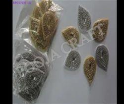 Teardrop Shape Silver Golden Buti 5/3.5cm