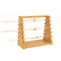 Pipettes Stand Horizontal Wooden