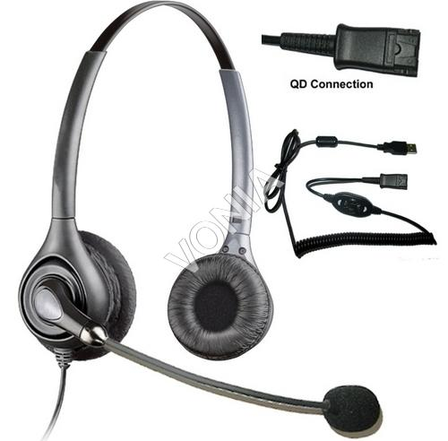Vonia Call Center Noise Canceling USB Headset