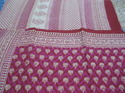 Hand Printed Cotton Saree