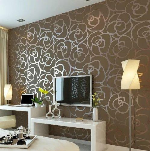 Bold Brown Color Paper Wallpaper Pushpak Furnishing Stores Navi