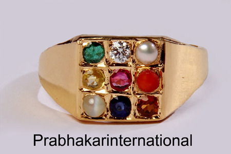 Navratna Ring Gems Jewelry & Astrology Prabhakar International