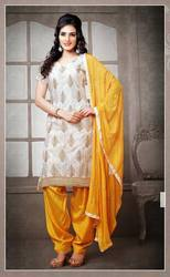 White And Yellow Salwar Suit