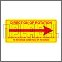 140994 - Right Direction Rotation Aluminum Labels