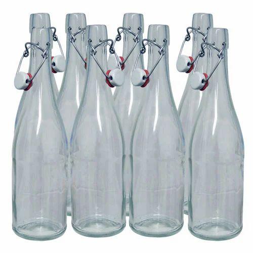 Swing Top Glass Water Bottle