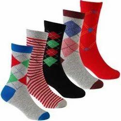 Children Self Design Crew Length Socks