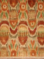 Hand Knotted Ikat Carpets