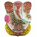 Marble Painting Ganesha Statue, Packaging Type: Box