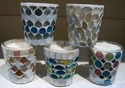 Vas Mosaic Glass Candle