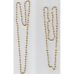 Solid Brass Beaded Chain