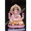 Marble Painted Ganesha Ji