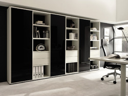 Black Lacquered Glass