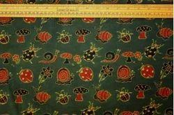 Mushroom & Snails Veg-Dye Block Print Fabric