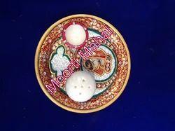 Handicraft Marble Pooja Thali