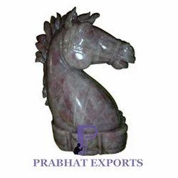 Stone Horse Head Statue