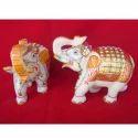 Elephant Set Marble Statues