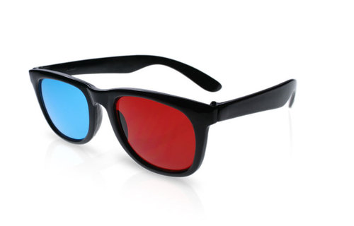 Male And Female Ray-Ban Anaglyph Red Cyan Sports Model 3D Glasses ...