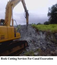 Rock Cutting Services For Canal Excavation