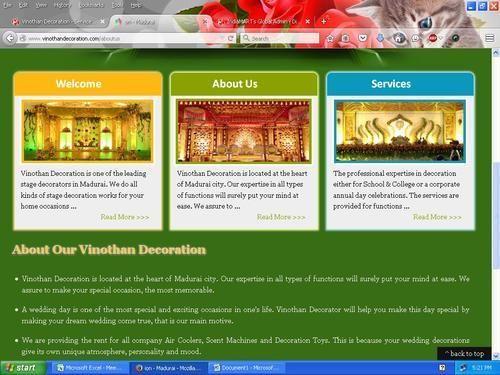 Vinothan Decoration Service Provider Of Wedding