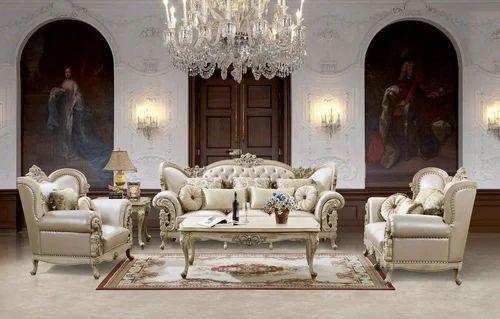 Masa Gaia Wood European Sofa Set Rs