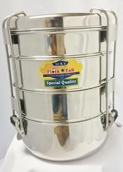 Vanshika Steel Center Silver Travelling Tiffin Box