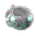 White Vm Handicraft Decorative Crystal Napkin Ring, Size: 2 Inch