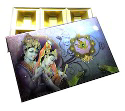 Devitional Metallic Print Dry fruit Box
