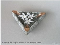 Handmade Triangle Stone With Copper Work