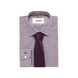 Red Formal Check Shirt