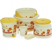 Cello 6 Pc Printed Bathroom Set Hot Stamping