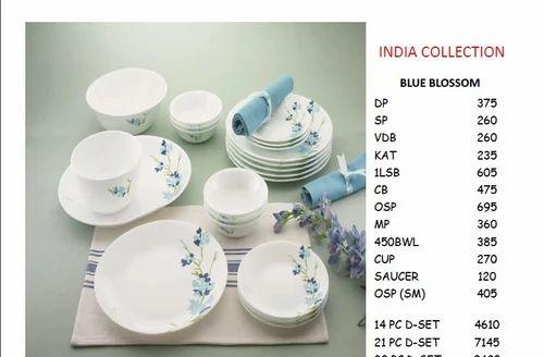 Corelle Blue Blossom Dinnerware 21 PC Set  sc 1 st  IndiaMART & Corelle Blue Blossom Dinnerware 21 Pc Set - Siddharth Enterprise ...