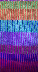Plain Catonic Slub Stripe Fabric