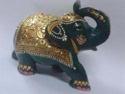 Green stone Elephant Statue, For Interior Decor