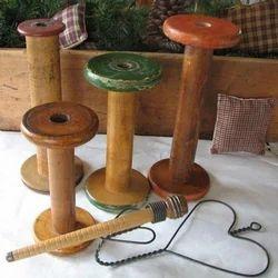 Wooden Cardboard Spools Wooden Spools Exporter From Moradabad