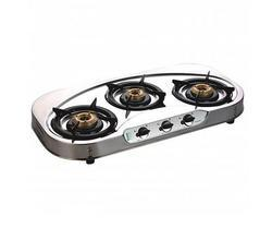 Silver Stainless Steel Three Burner Kitchen Cooktops, Model Name/Number: VitoSS3B, Size: 78 Cm