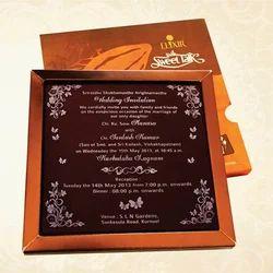 Invitation card in hyderabad telangana manufacturers suppliers customized wedding invitation card on chcolate stopboris Choice Image