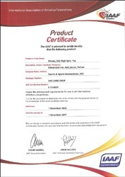 IAAF Certification No -1-13-0659