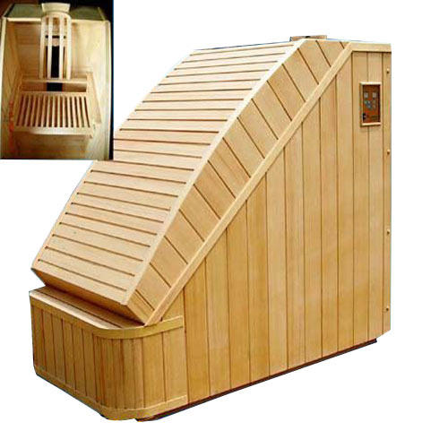 wooden portable far infrared sauna cabin size 38 x27 x32 rs 78500 piece id 6260551155. Black Bedroom Furniture Sets. Home Design Ideas