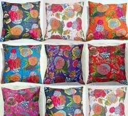 Tropical Kantha Cushion Pillow Covers