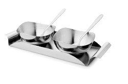 2 Pcs Designer Bowl with Spoon & Tray