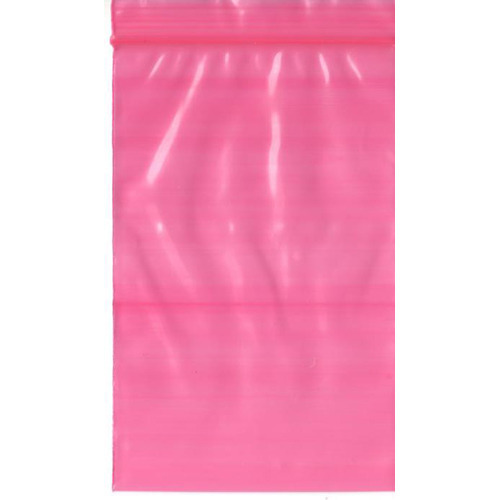 Pink Anti Static Ziplock Bag