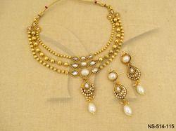 Oval Kemp Stone Necklace Set