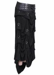 Dusky Gothic Long Knitted Skirt