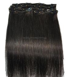 100% Natural Indian Hair Clip in Hair Extension