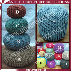 Knitted Rope Pouf Collections