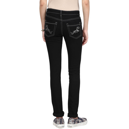 Plain Stretchable Ladies Denim Jeans, Packaging Type: Packet, Waist Size: 28-38 Inch