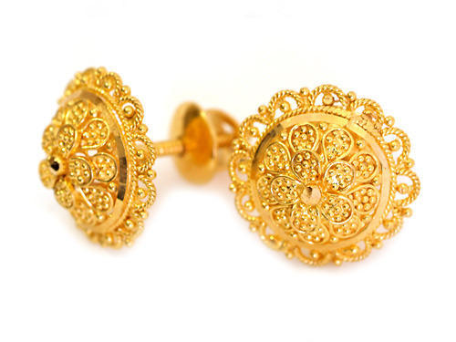 Gold Tops Earring